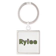 Rylee Spring Green Square Keychain