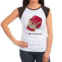 I Love Lacrosse Women's Cap Sleeve T-Shirt