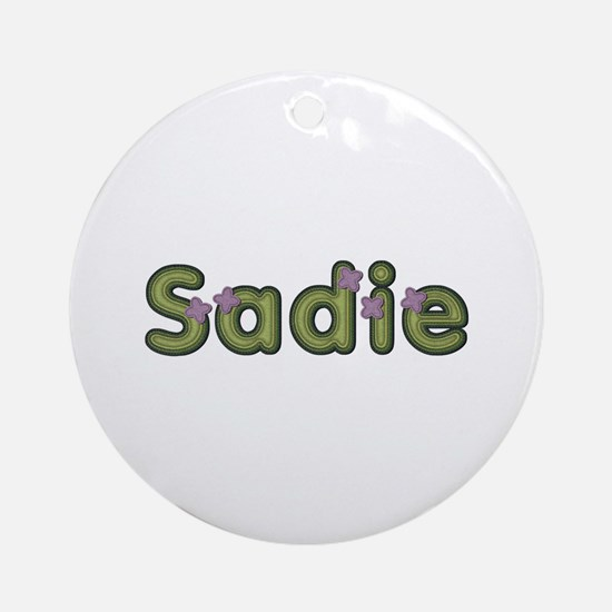 Sadie Spring Green Round Ornament