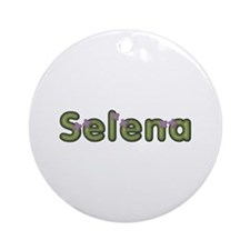Selena Spring Green Round Ornament