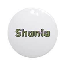 Shania Spring Green Round Ornament