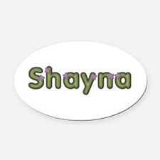 Shayna Spring Green Oval Car Magnet