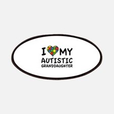 I Love My Autistic Granddaughter Patches