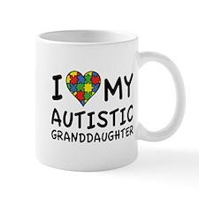 I Love My Autistic Granddaughter Mug