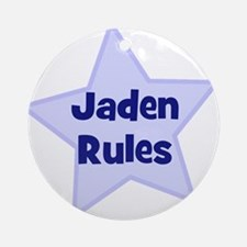 Jaden Rules Ornament (Round)