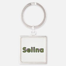 Selina Spring Green Square Keychain