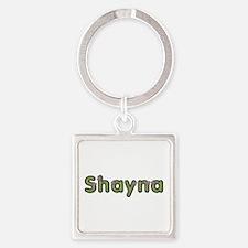 Shayna Spring Green Square Keychain