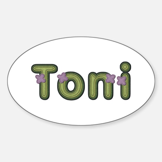 Toni Spring Green Oval Decal