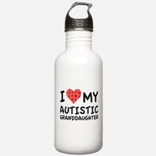 I Love My Autistic Granddaughter Water Bottle