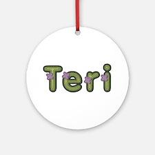 Teri Spring Green Round Ornament