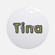 Tina Spring Green Round Ornament