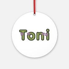 Toni Spring Green Round Ornament