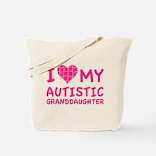 I Love My Autistic Granddaughter Tote Bag