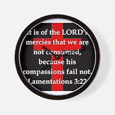 Lamentation 3-22 Wall Clock