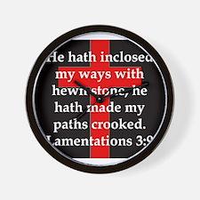 Lamentation 3-9 Wall Clock