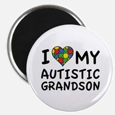 "I Love My Autistic Grandson 2.25"" Magnet (100 pack"