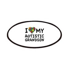I Love My Autistic Grandson Patches