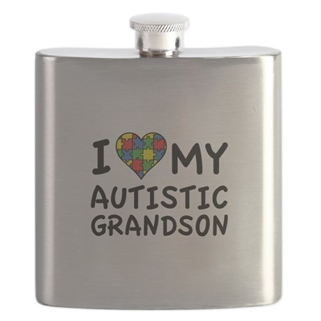 I Love My Autistic Grandson Flask