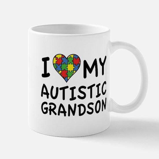 I Love My Autistic Grandson Mug