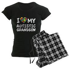 I Love My Autistic Grandson Pajamas