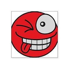 funny_crazy_grin_smiley Sticker