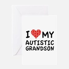 I Love My Autistic Grandson Greeting Card
