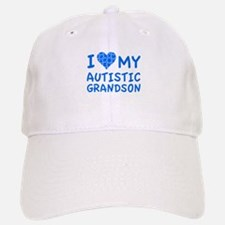 I Love My Autistic Grandson Baseball Baseball Cap