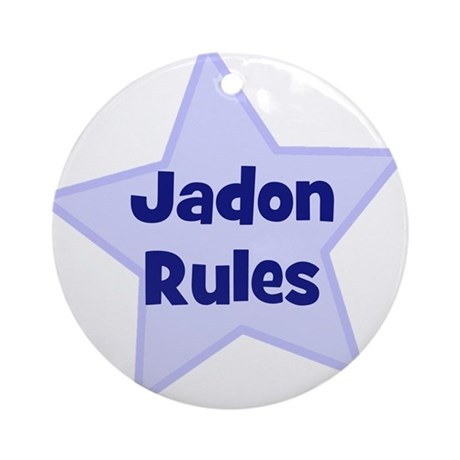 Jadon Rules Ornament (Round)