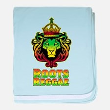Roots Reggae Lion baby blanket