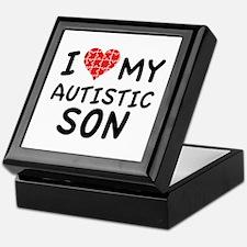 I Love My Autistic Son Keepsake Box