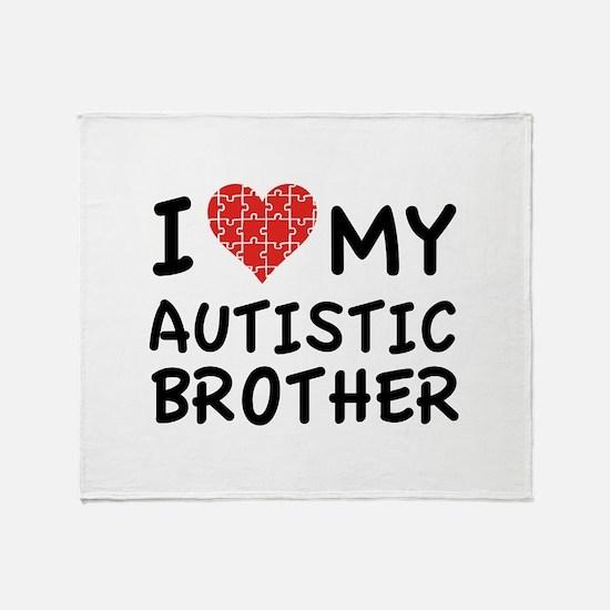 I Love My Autistic Brother Stadium Blanket