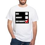 Very Naughty Xmas Fun White T-Shirt