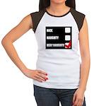 Very Naughty Xmas Fun Women's Cap Sleeve T-Shirt