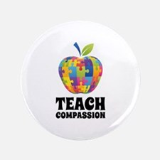 "Teach Compassion 3.5"" Button"