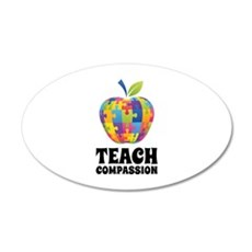 Teach Compassion 22x14 Oval Wall Peel
