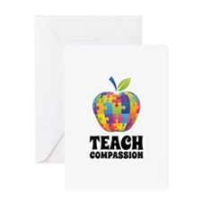 Teach Compassion Greeting Card