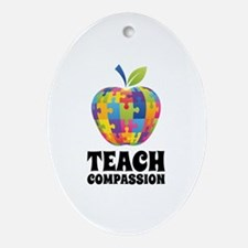 Teach Compassion Ornament (Oval)
