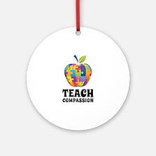 Teach Compassion Ornament (Round)