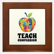 Teach Compassion Framed Tile