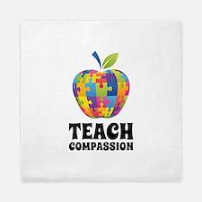 Teach Compassion Queen Duvet
