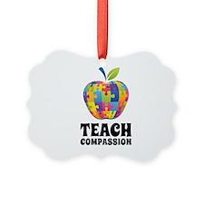 Teach Compassion Ornament