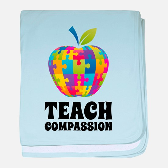 Teach Compassion baby blanket