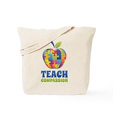 Teach Compassion Tote Bag