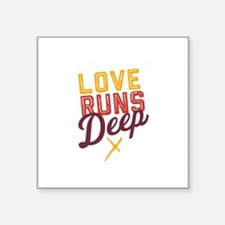 Love Runs Deep in Dallas Sticker