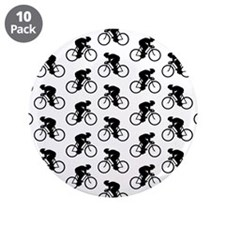 "Cycling Pattern. 3.5"" Button (10 pack)"