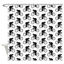 Cycling Pattern. Shower Curtain