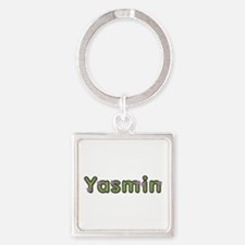 Yasmin Spring Green Square Keychain