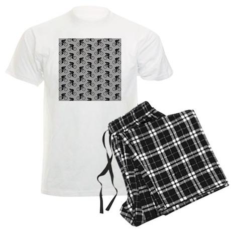 Gray Cycling Pattern. Pajamas