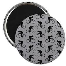 Gray Cycling Pattern. Magnet