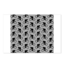 Gray Cycling Pattern. Postcards (Package of 8)